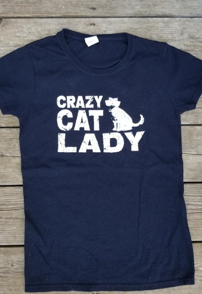 Tops - CRAZY Cat Lady Tee